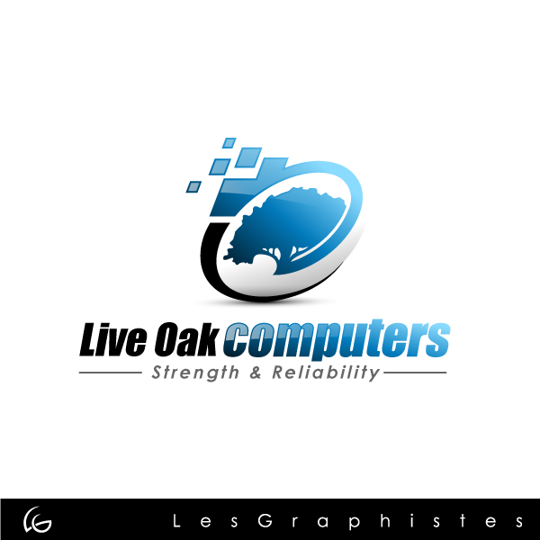 Logo Design by Les-Graphistes - Entry No. 34 in the Logo Design Contest Live Oak Computers.