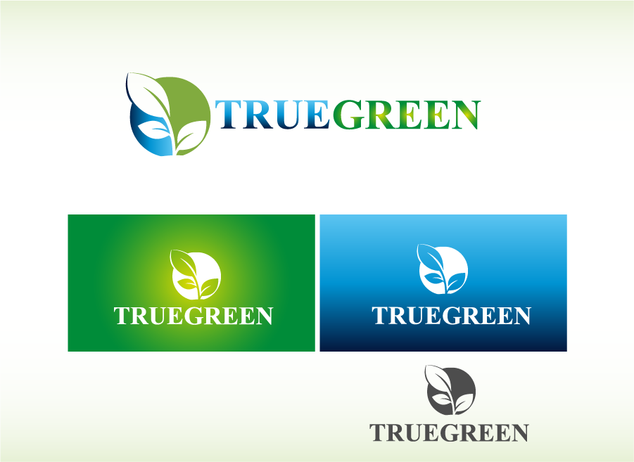 Logo Design by Private User - Entry No. 9 in the Logo Design Contest Fun Logo Design for TRUE GREEN.