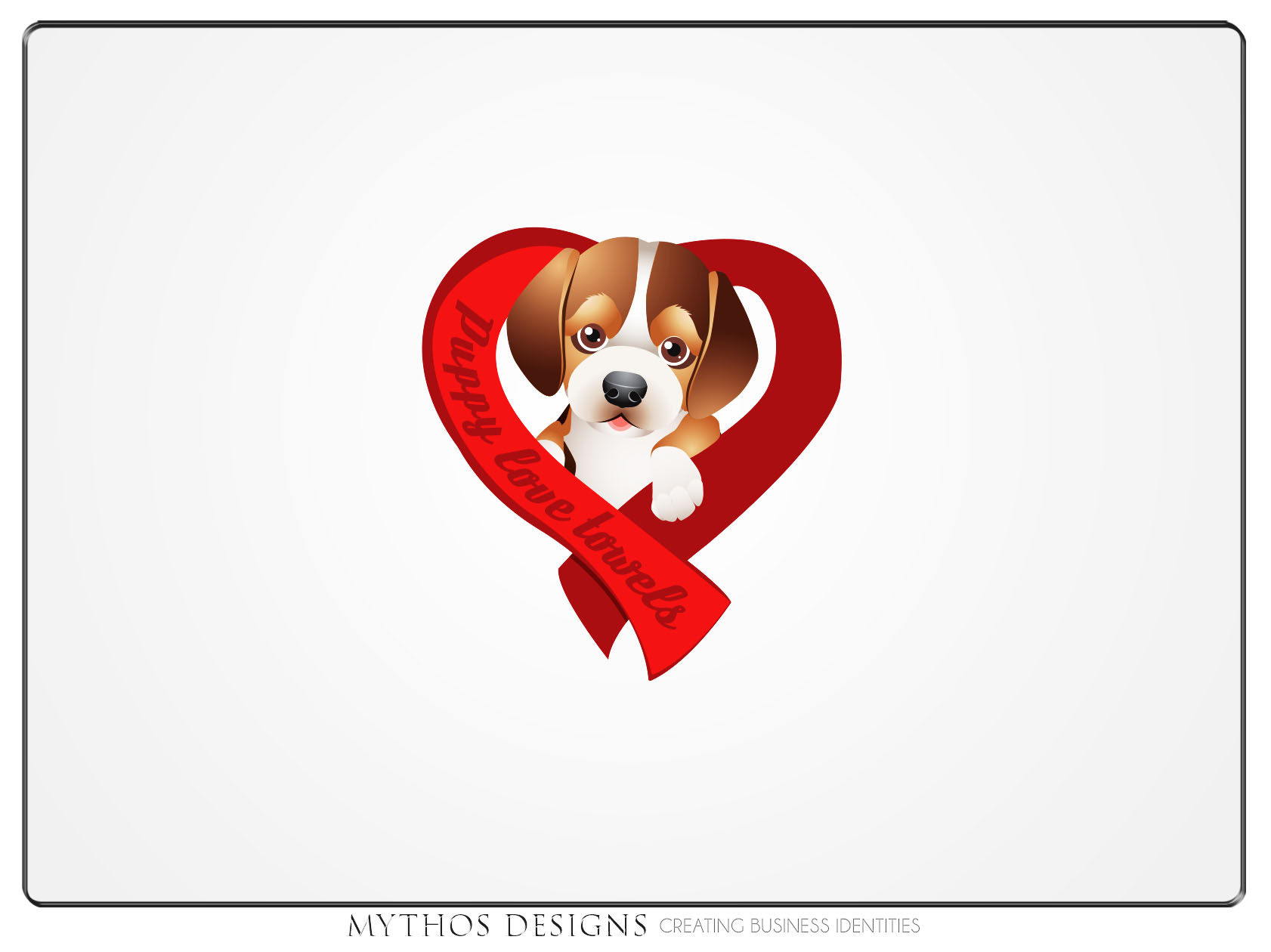 Logo Design by Mythos Designs - Entry No. 72 in the Logo Design Contest Artistic Logo Design for Puppy Love Towels.