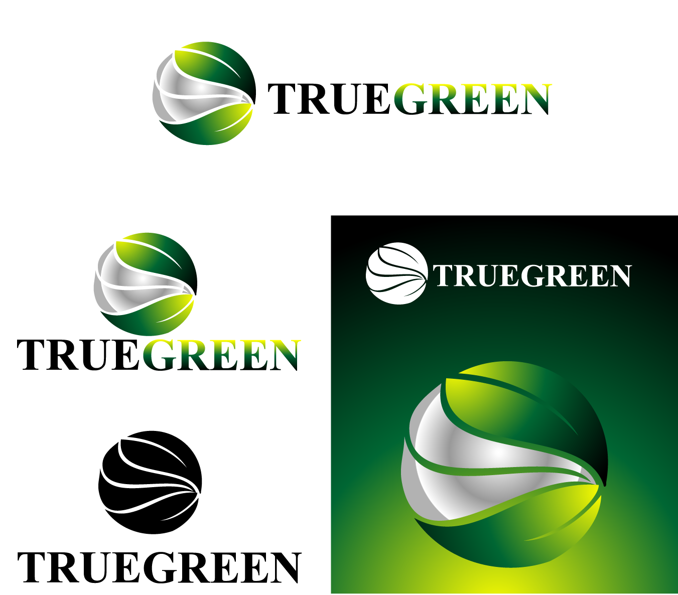 Logo Design by Private User - Entry No. 12 in the Logo Design Contest Fun Logo Design for TRUE GREEN.