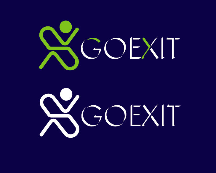 Logo Design by VENTSISLAV KOVACHEV - Entry No. 72 in the Logo Design Contest GoExit Logo Design.