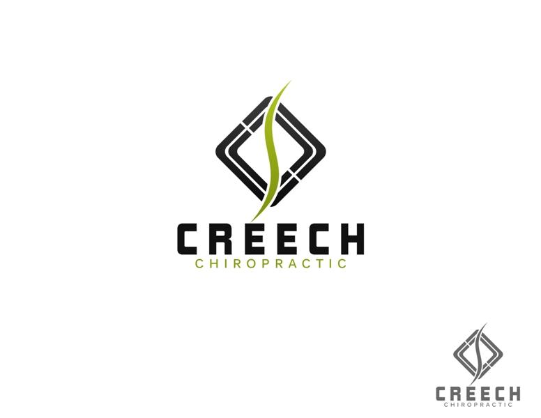 Logo Design by Juan_Kata - Entry No. 38 in the Logo Design Contest Imaginative Logo Design for Creech Chiropractic.