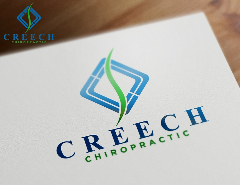 Logo Design by Juan_Kata - Entry No. 39 in the Logo Design Contest Imaginative Logo Design for Creech Chiropractic.