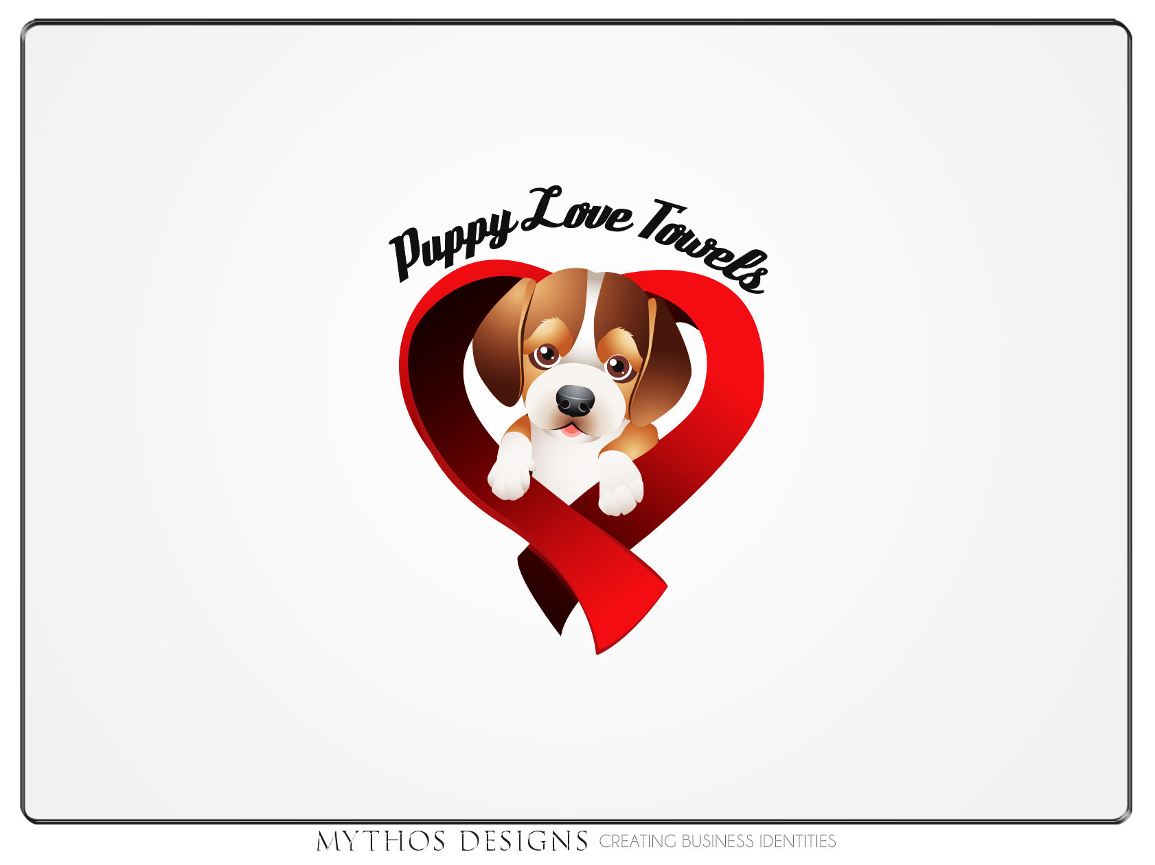 Logo Design by Mythos Designs - Entry No. 76 in the Logo Design Contest Artistic Logo Design for Puppy Love Towels.