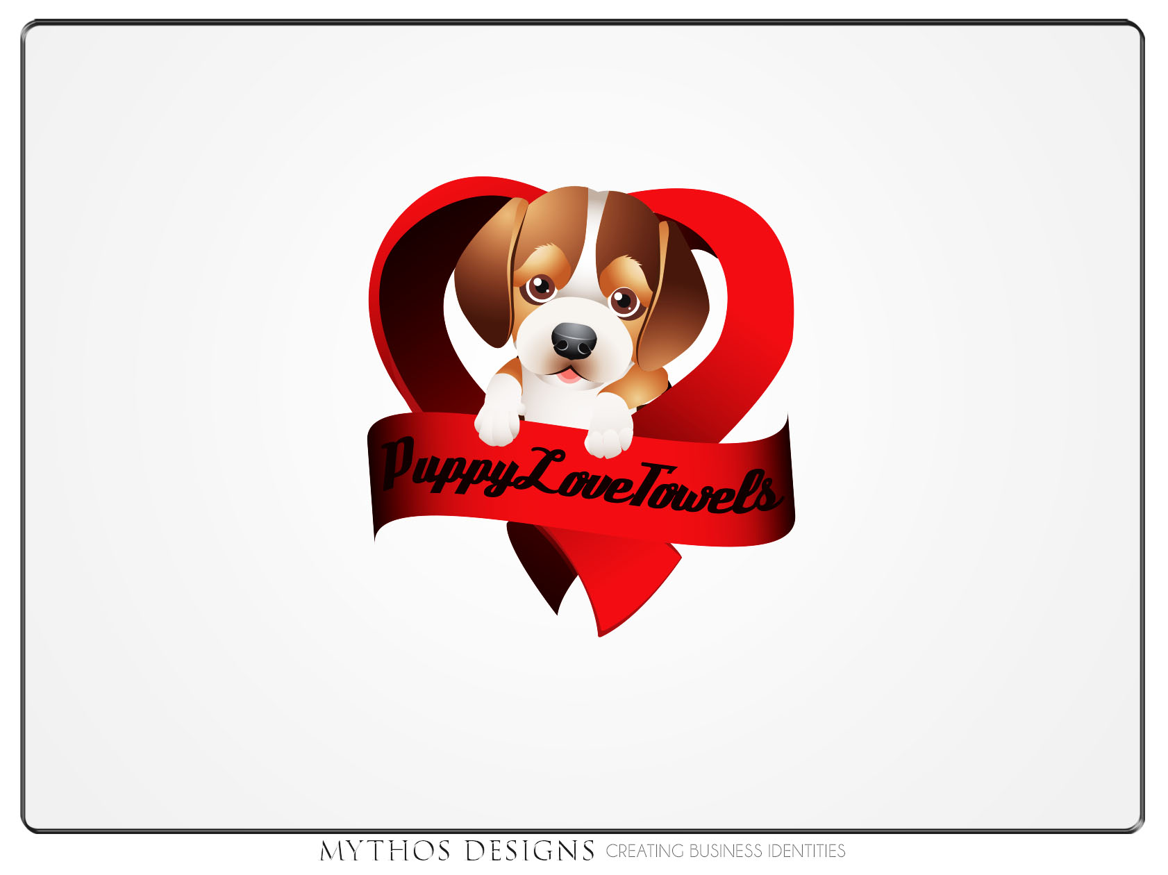 Logo Design by Mythos Designs - Entry No. 77 in the Logo Design Contest Artistic Logo Design for Puppy Love Towels.