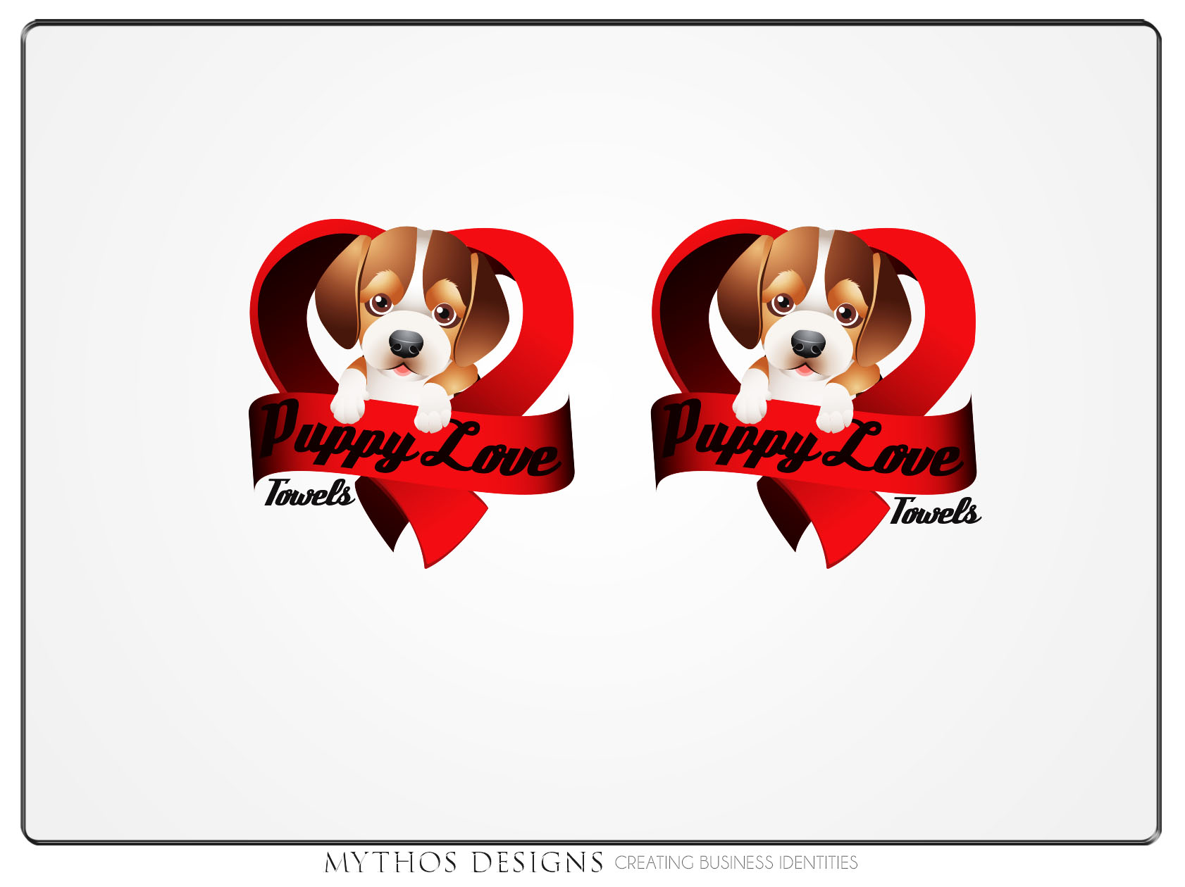 Logo Design by Mythos Designs - Entry No. 78 in the Logo Design Contest Artistic Logo Design for Puppy Love Towels.