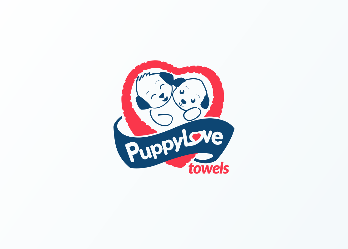 Logo Design by Jorge Sardon - Entry No. 79 in the Logo Design Contest Artistic Logo Design for Puppy Love Towels.