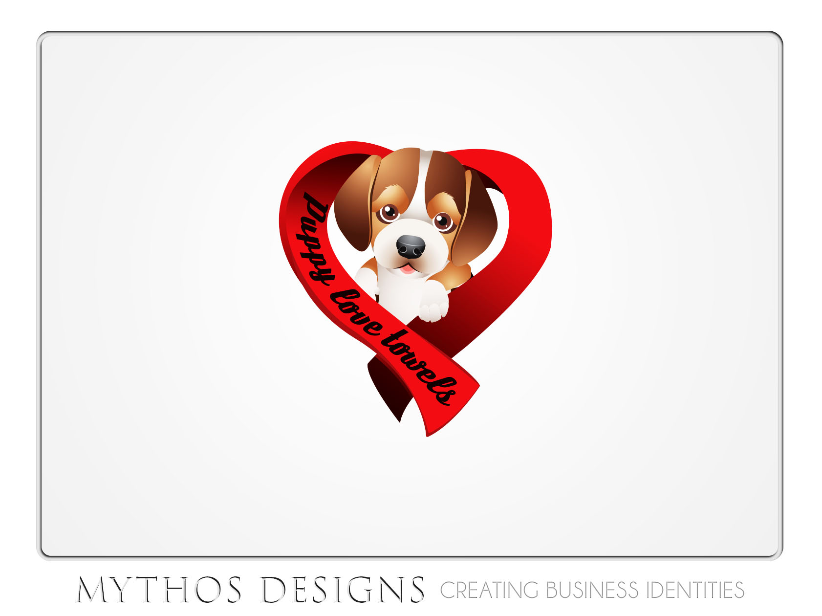 Logo Design by Mythos Designs - Entry No. 80 in the Logo Design Contest Artistic Logo Design for Puppy Love Towels.