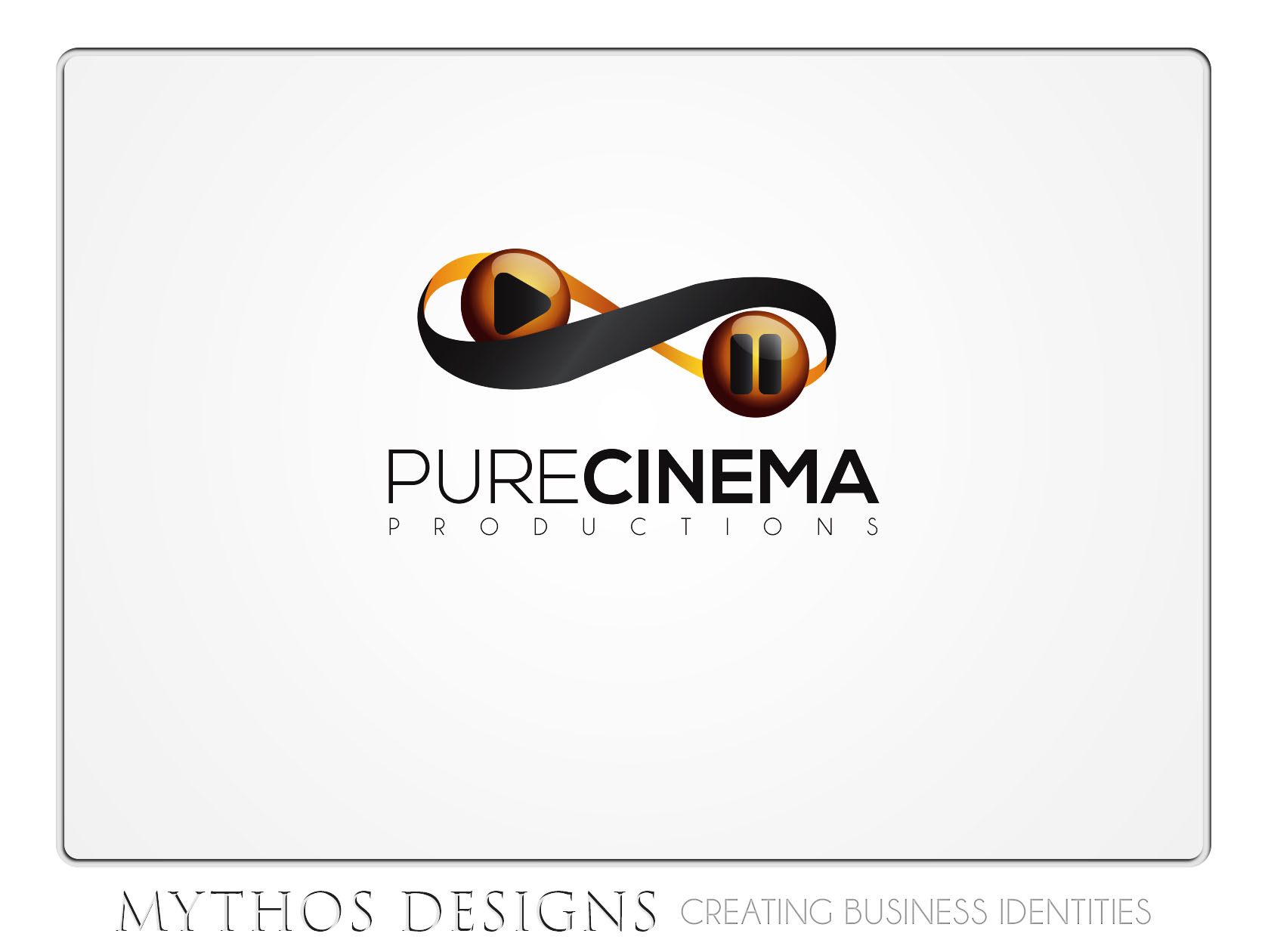 Logo Design by Mythos Designs - Entry No. 51 in the Logo Design Contest Imaginative Logo Design for Pure Cinema.