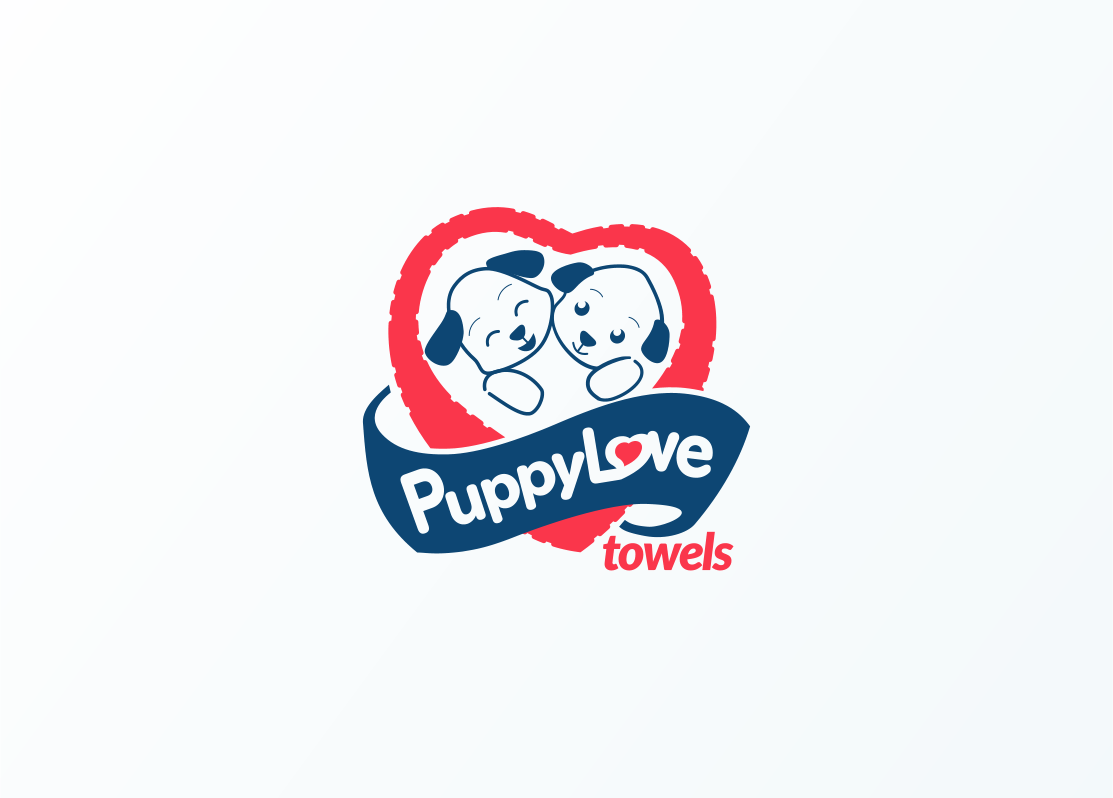 Logo Design by Jorge Sardon - Entry No. 81 in the Logo Design Contest Artistic Logo Design for Puppy Love Towels.