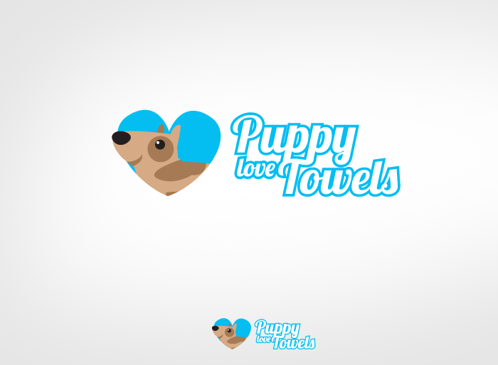 Logo Design by Jan Chua - Entry No. 82 in the Logo Design Contest Artistic Logo Design for Puppy Love Towels.