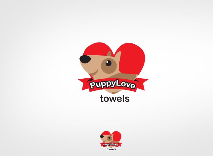 Logo Design by Jan Chua - Entry No. 83 in the Logo Design Contest Artistic Logo Design for Puppy Love Towels.