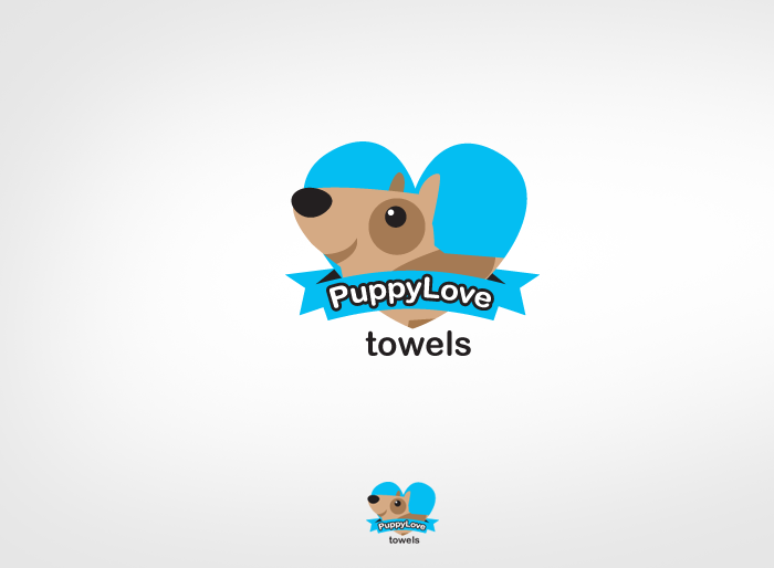 Logo Design by Jan Chua - Entry No. 84 in the Logo Design Contest Artistic Logo Design for Puppy Love Towels.