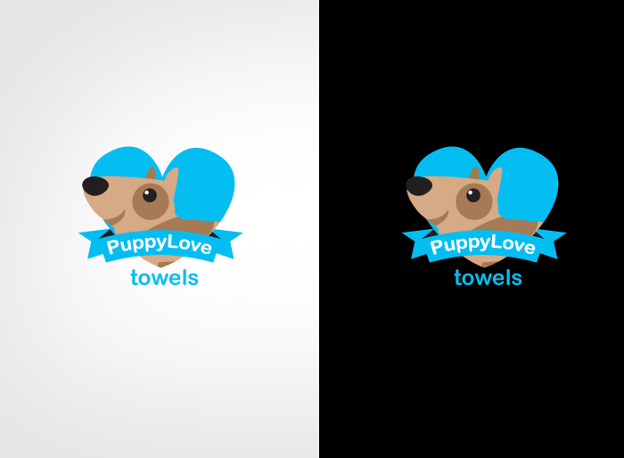 Logo Design by Jan Chua - Entry No. 85 in the Logo Design Contest Artistic Logo Design for Puppy Love Towels.
