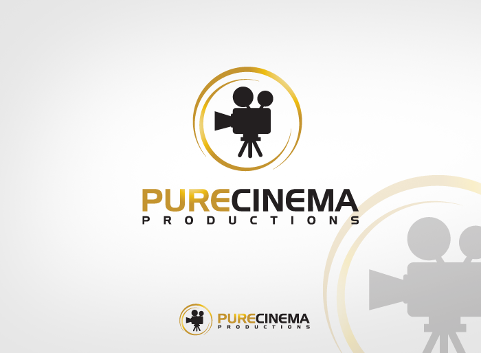 Logo Design by Jan Chua - Entry No. 57 in the Logo Design Contest Imaginative Logo Design for Pure Cinema.