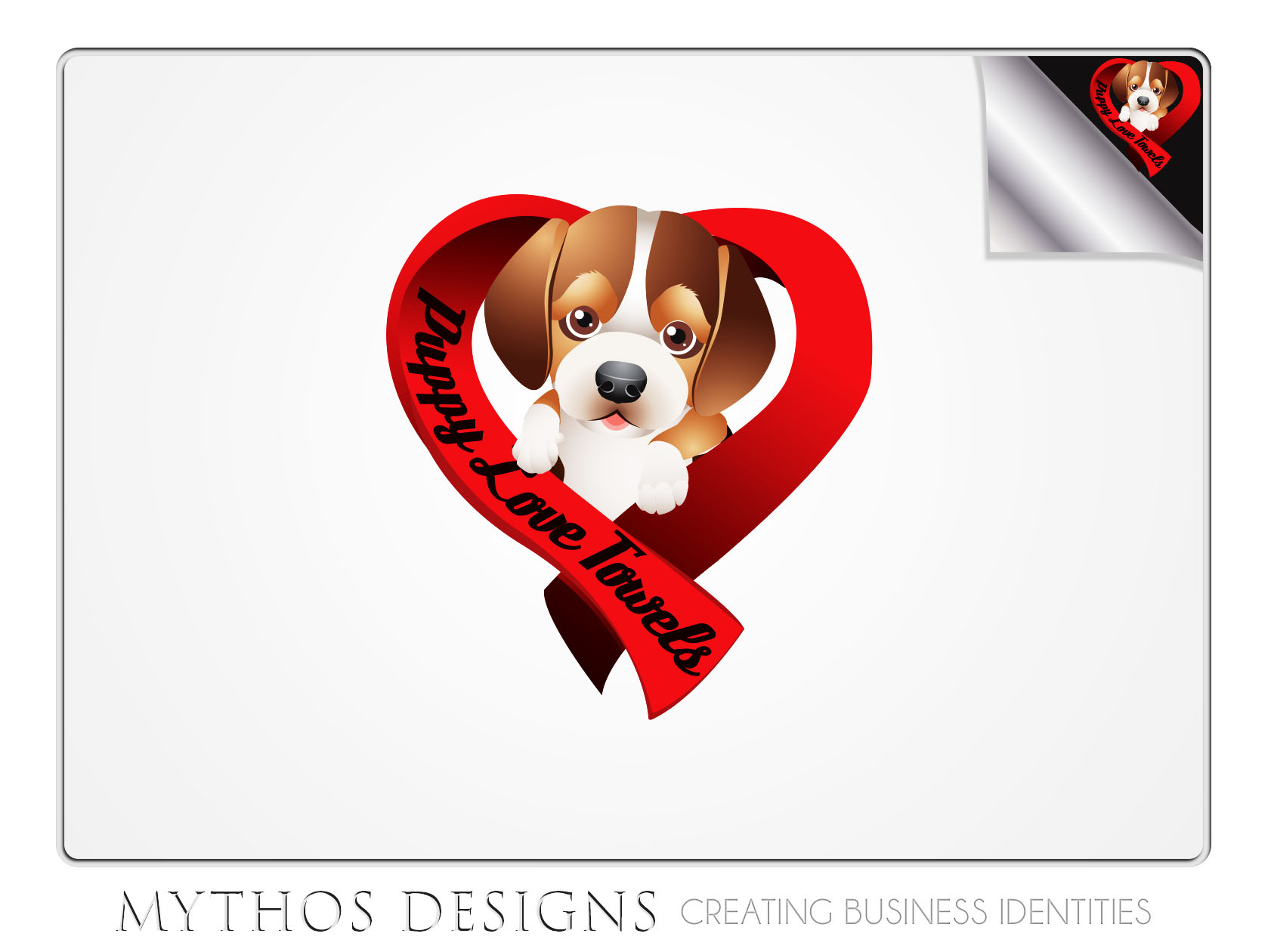 Logo Design by Mythos Designs - Entry No. 86 in the Logo Design Contest Artistic Logo Design for Puppy Love Towels.