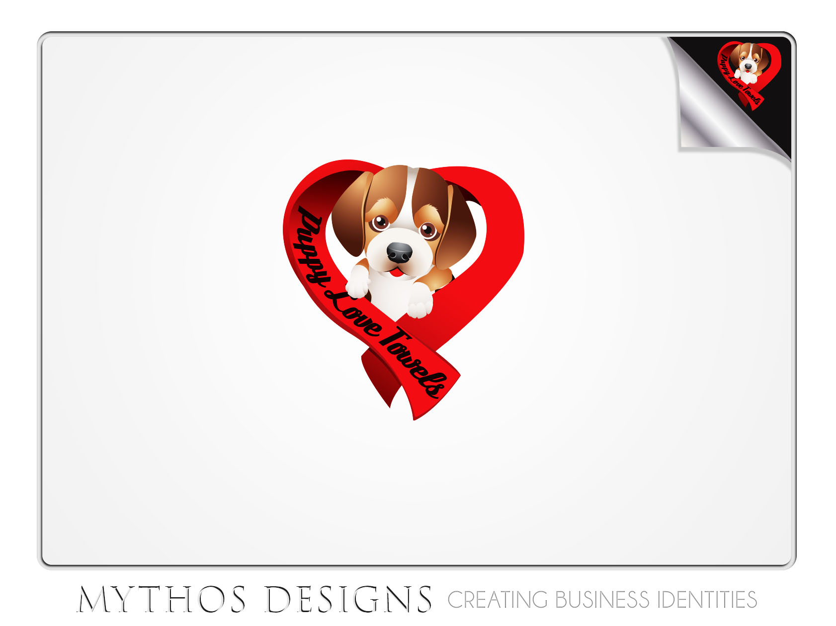 Logo Design by Mythos Designs - Entry No. 87 in the Logo Design Contest Artistic Logo Design for Puppy Love Towels.
