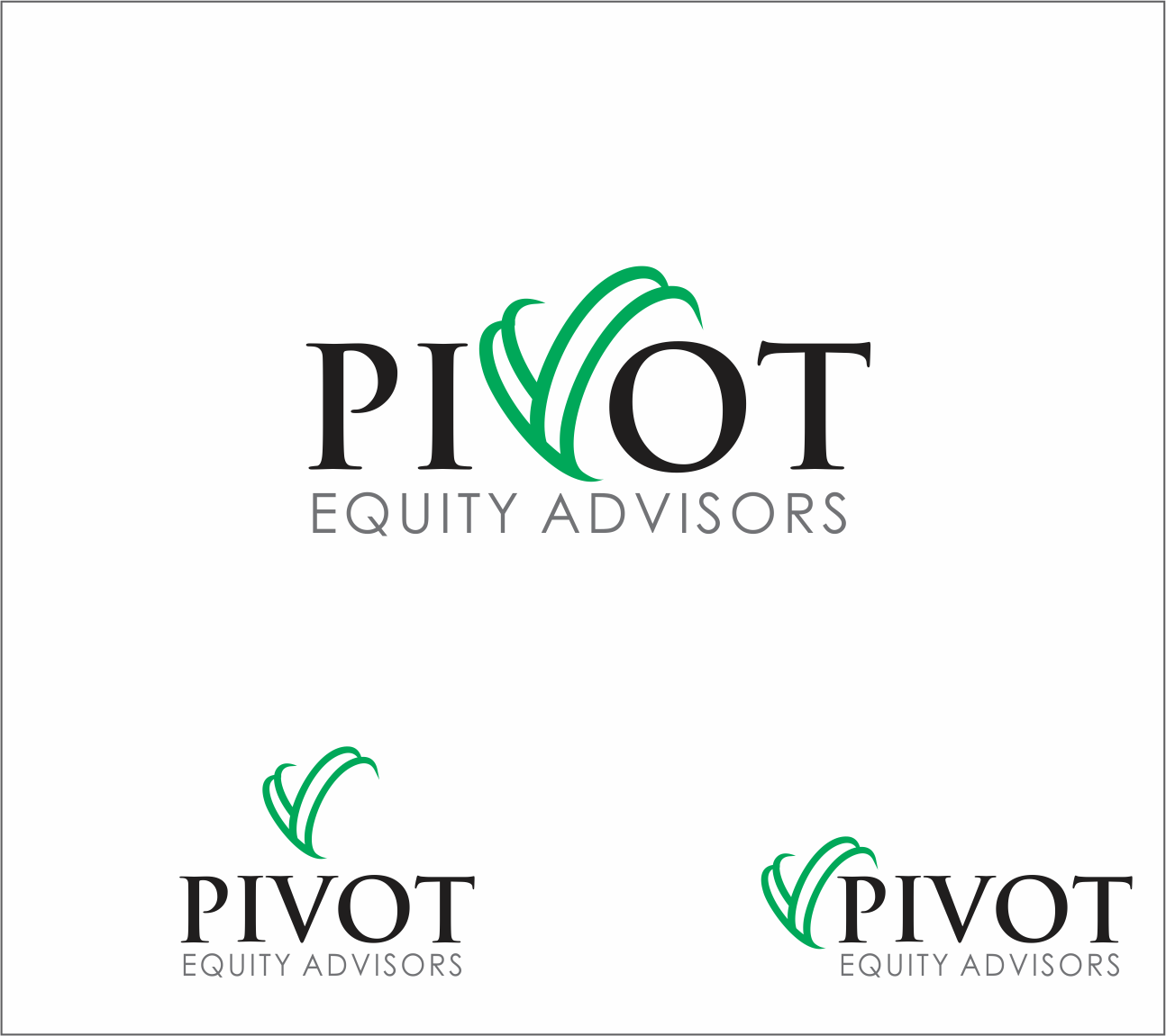 Logo Design by Armada Jamaluddin - Entry No. 29 in the Logo Design Contest Unique Logo Design Wanted for Pivot Equity Advisors.