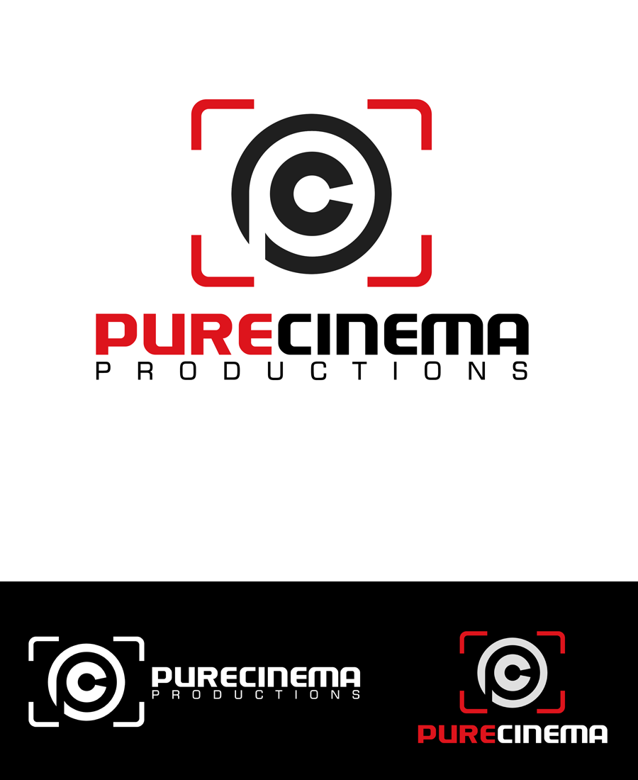 Logo Design by Private User - Entry No. 61 in the Logo Design Contest Imaginative Logo Design for Pure Cinema.