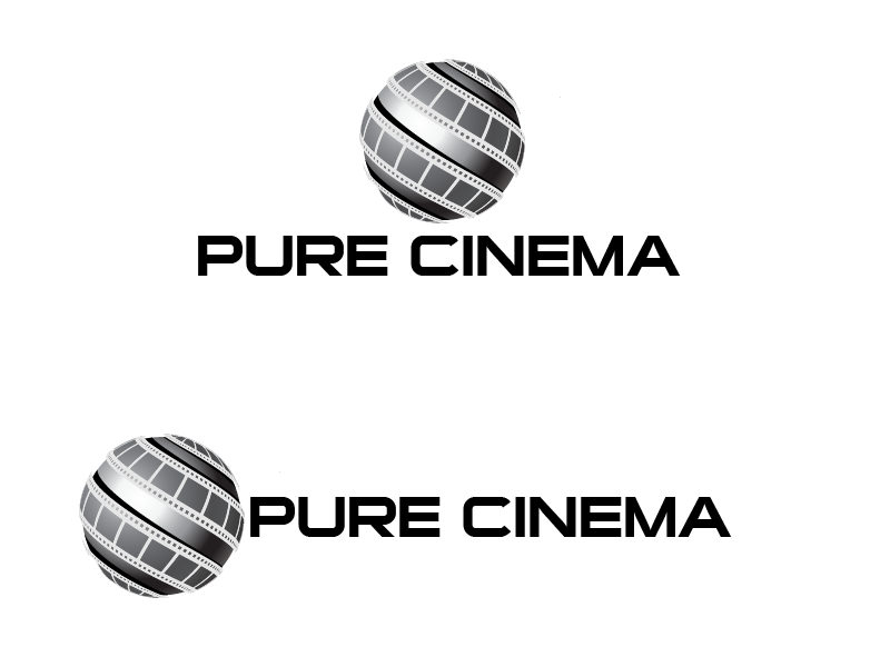 Logo Design by Private User - Entry No. 67 in the Logo Design Contest Imaginative Logo Design for Pure Cinema.