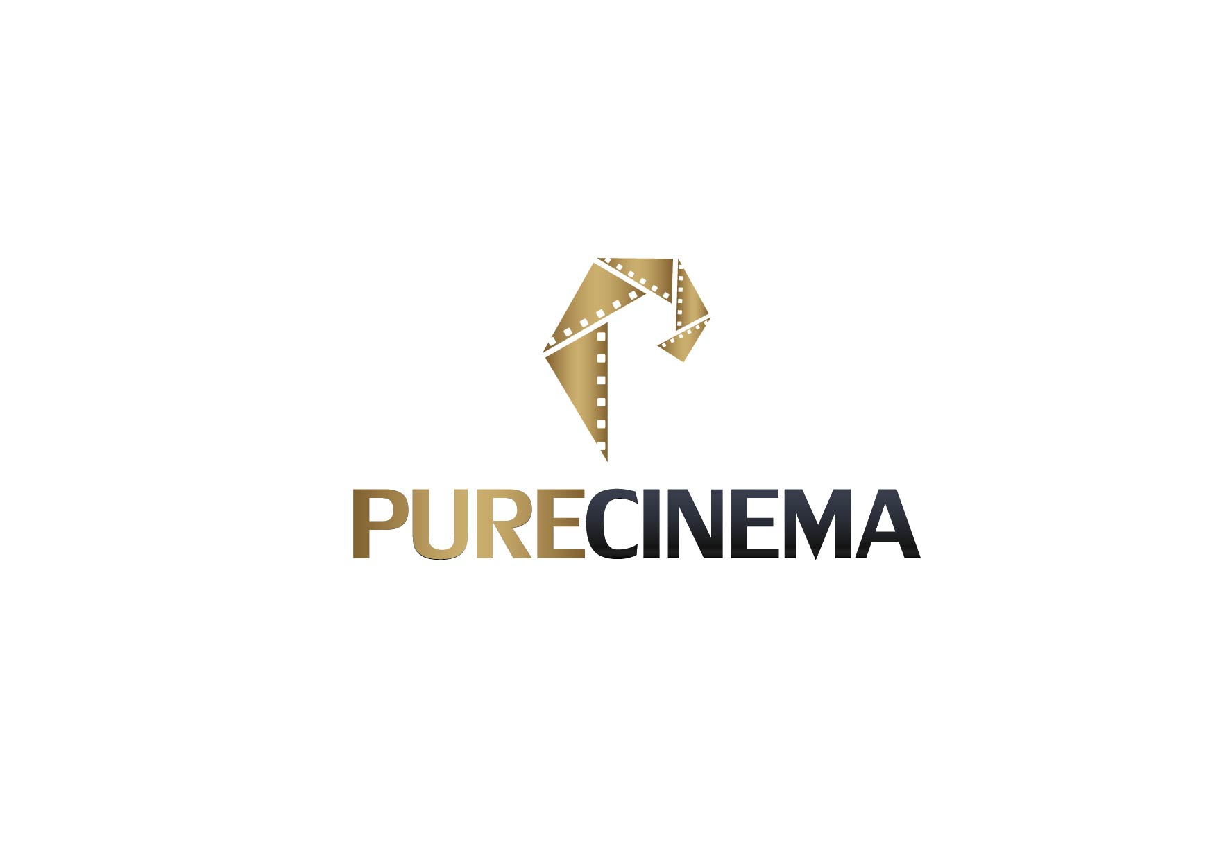 Logo Design by Yash Sindhav - Entry No. 72 in the Logo Design Contest Imaginative Logo Design for Pure Cinema.