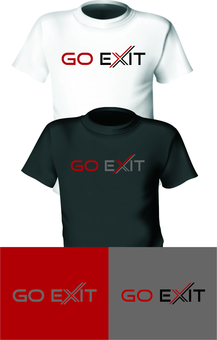 Logo Design by RasYa Muhammad Athaya - Entry No. 108 in the Logo Design Contest GoExit Logo Design.