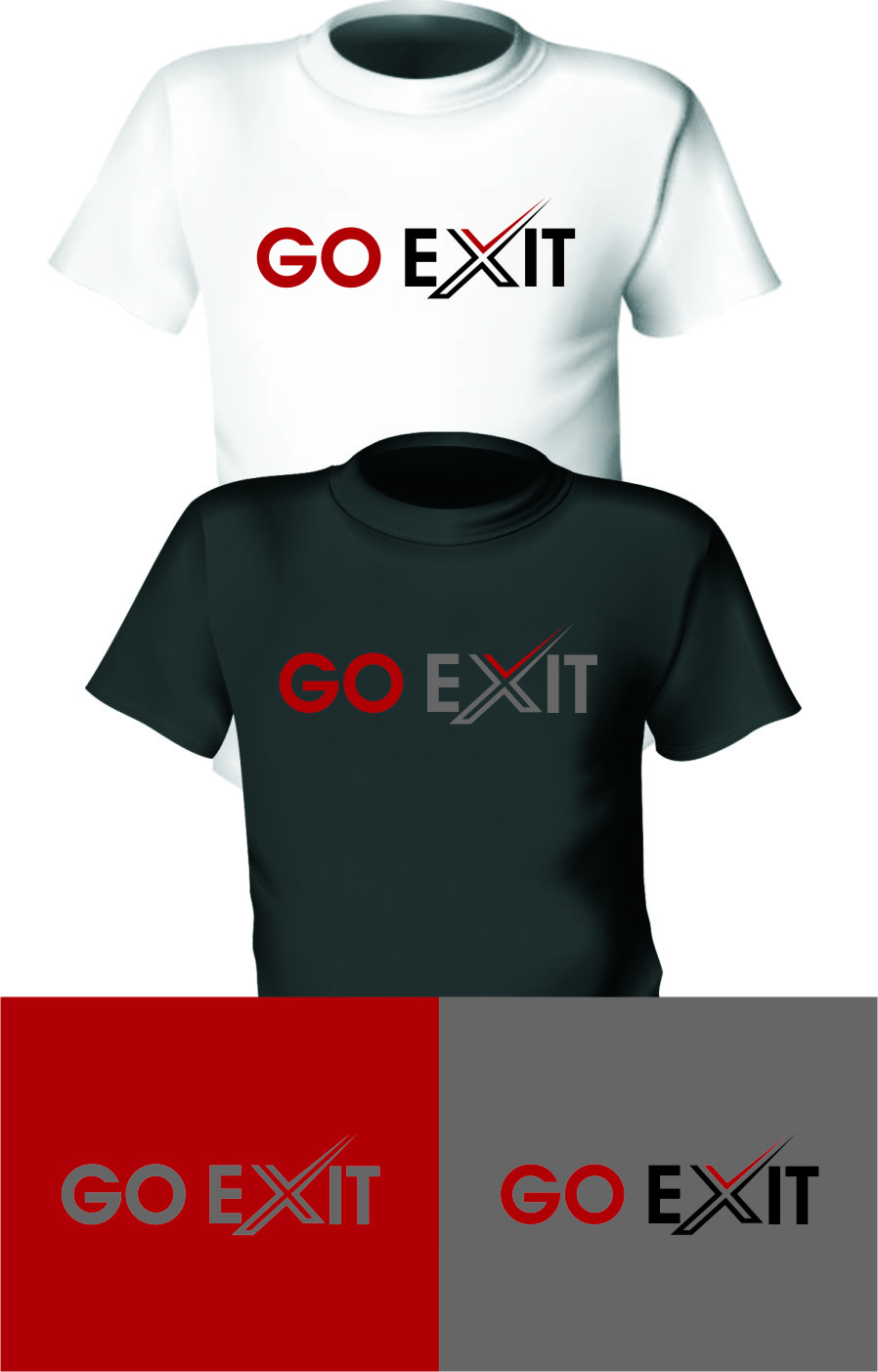 Logo Design by RasYa Muhammad Athaya - Entry No. 109 in the Logo Design Contest GoExit Logo Design.