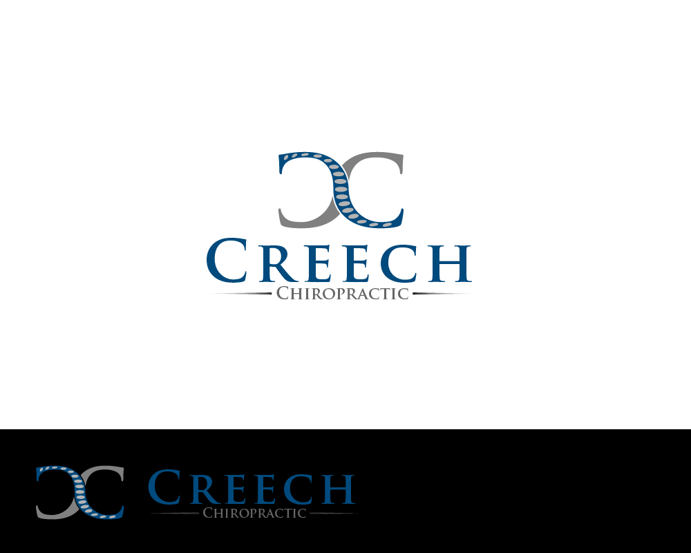 Logo Design by Juan Luna - Entry No. 60 in the Logo Design Contest Imaginative Logo Design for Creech Chiropractic.