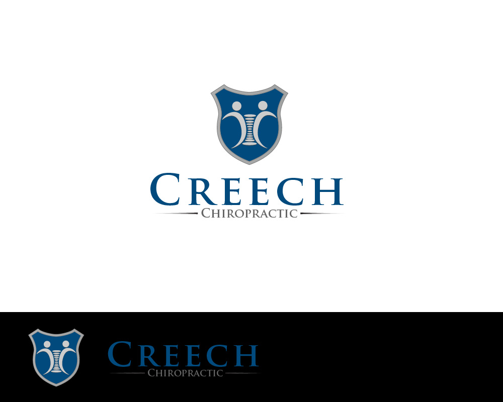 Logo Design by Juan Luna - Entry No. 61 in the Logo Design Contest Imaginative Logo Design for Creech Chiropractic.
