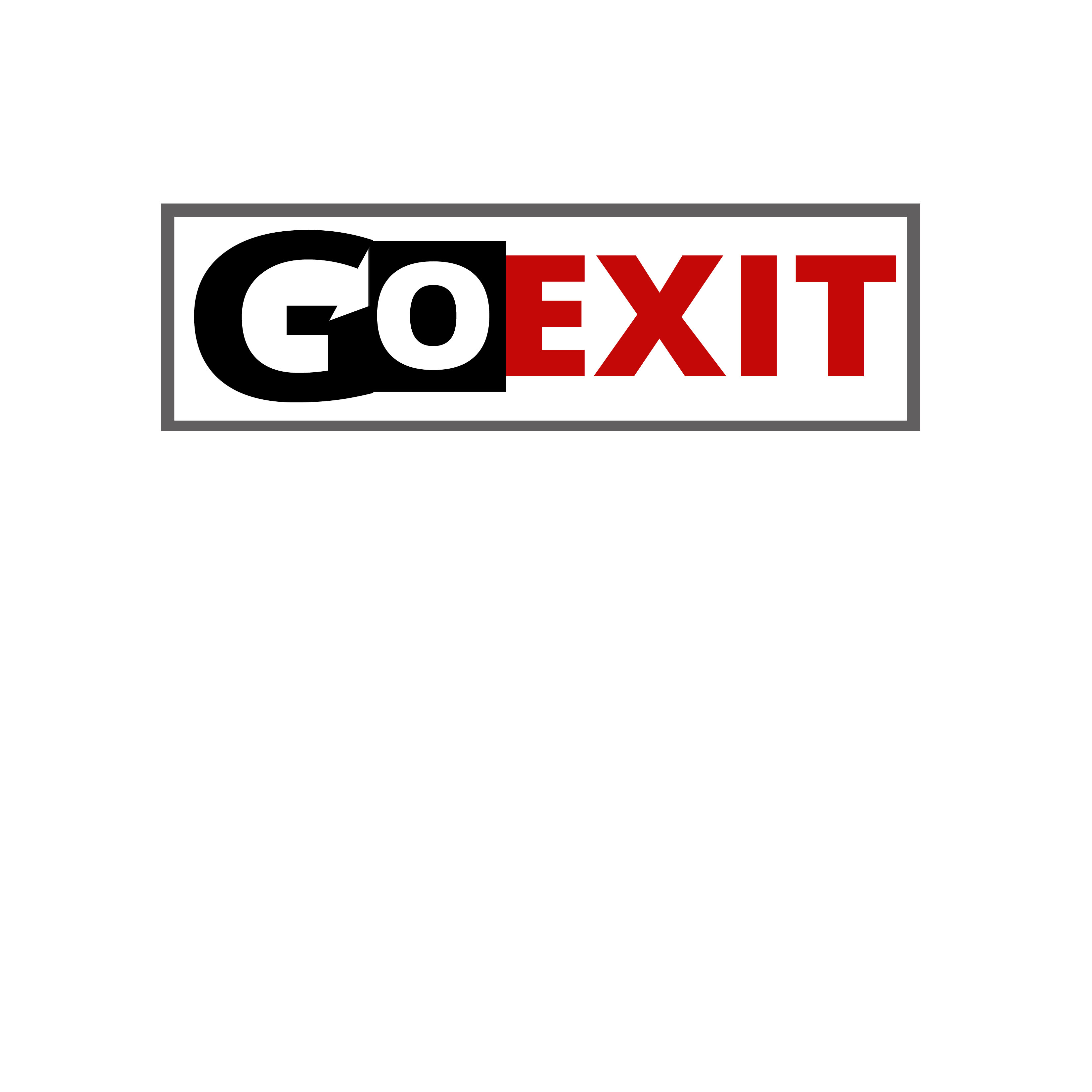 Logo Design by Allan Esclamado - Entry No. 126 in the Logo Design Contest GoExit Logo Design.