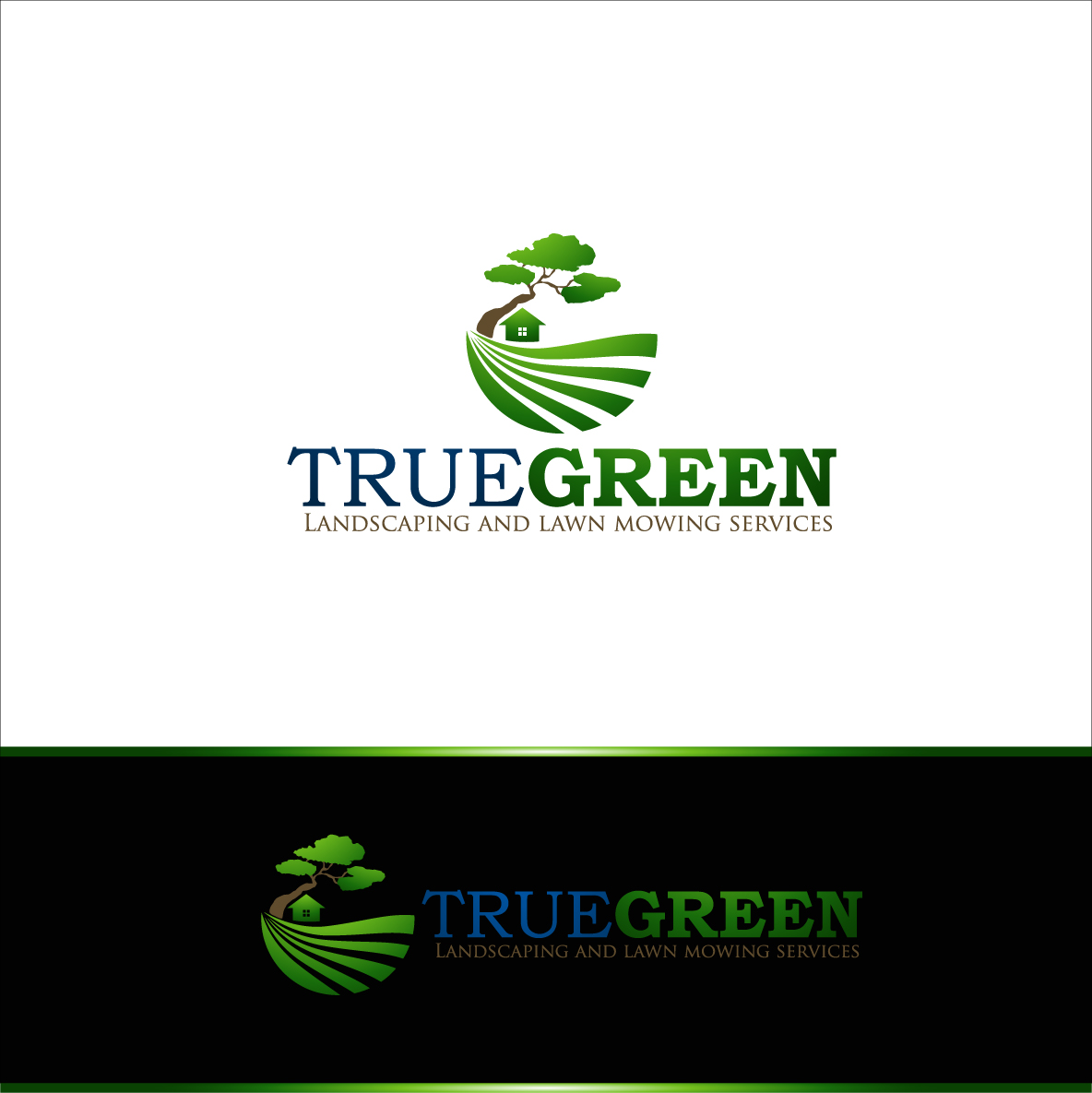 Logo Design by zoiDesign - Entry No. 32 in the Logo Design Contest Fun Logo Design for TRUE GREEN.