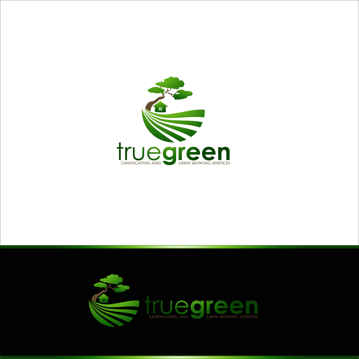 Logo Design by zoiDesign - Entry No. 33 in the Logo Design Contest Fun Logo Design for TRUE GREEN.