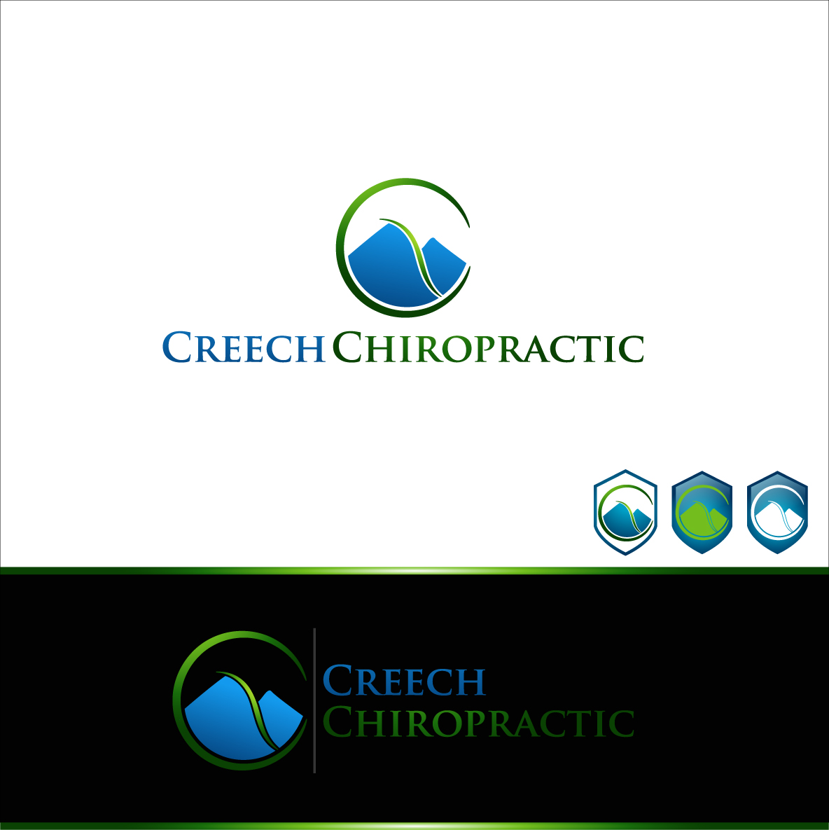 Logo Design by zoiDesign - Entry No. 69 in the Logo Design Contest Imaginative Logo Design for Creech Chiropractic.