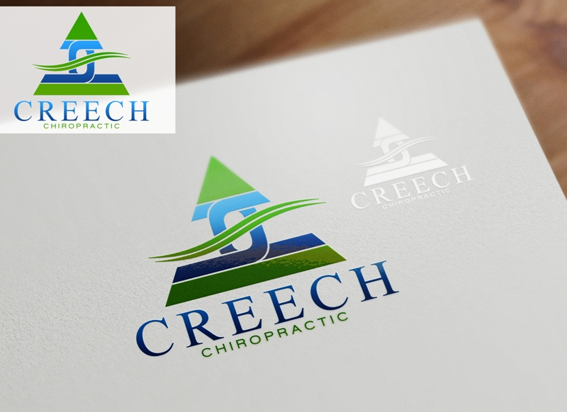 Logo Design by Juan_Kata - Entry No. 77 in the Logo Design Contest Imaginative Logo Design for Creech Chiropractic.
