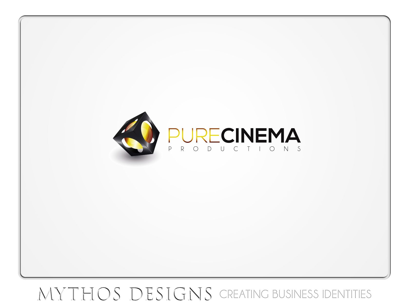 Logo Design by Mythos Designs - Entry No. 92 in the Logo Design Contest Imaginative Logo Design for Pure Cinema.