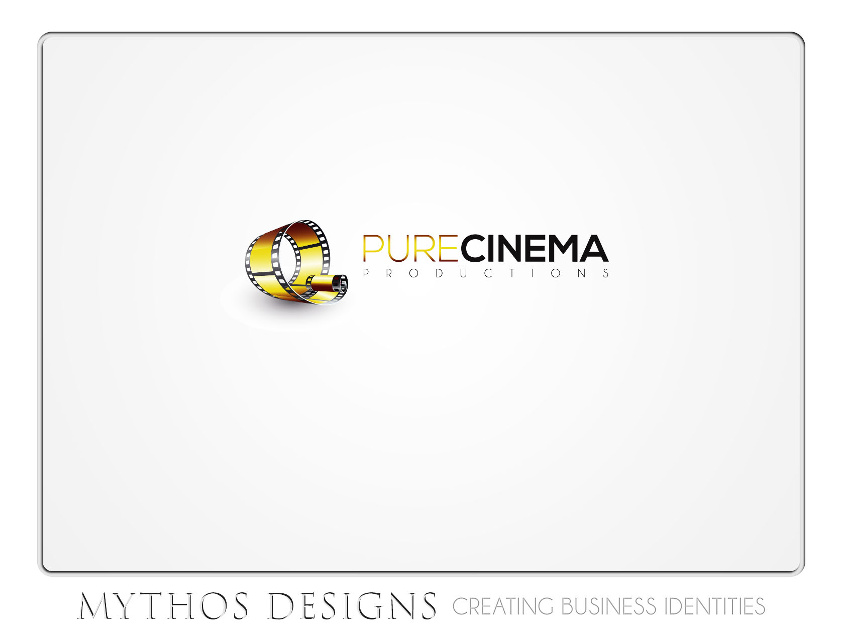 Logo Design by Mythos Designs - Entry No. 93 in the Logo Design Contest Imaginative Logo Design for Pure Cinema.