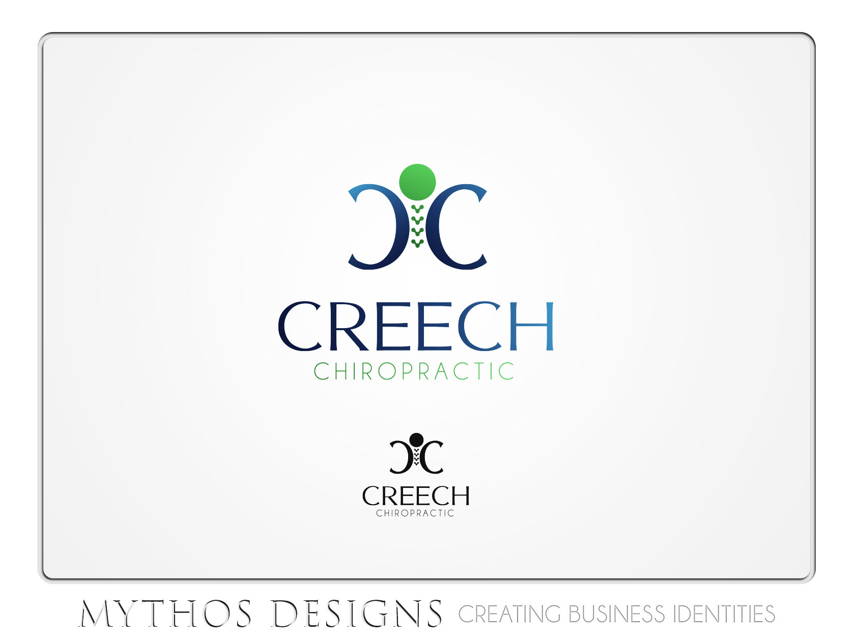 Logo Design by Mythos Designs - Entry No. 83 in the Logo Design Contest Imaginative Logo Design for Creech Chiropractic.
