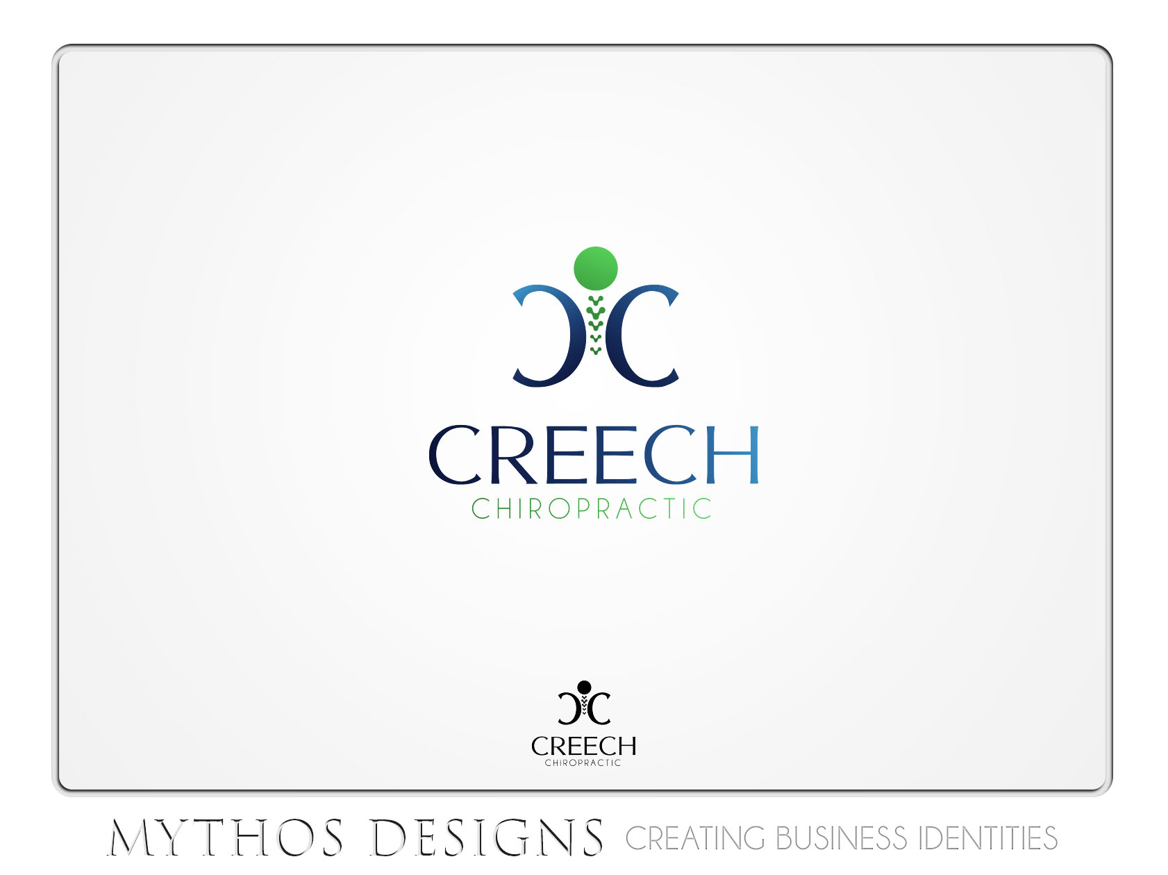 Logo Design by Mythos Designs - Entry No. 84 in the Logo Design Contest Imaginative Logo Design for Creech Chiropractic.