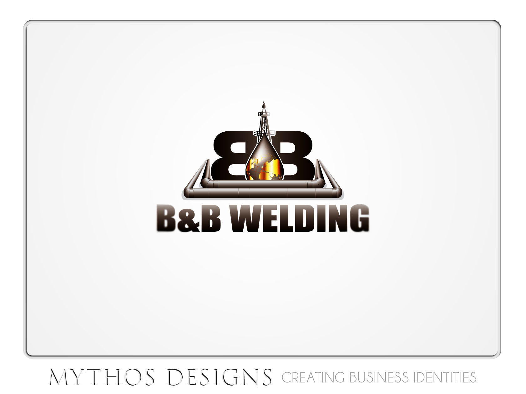 Logo Design by Mythos Designs - Entry No. 36 in the Logo Design Contest Fun Logo Design for B&B Welding Inc..