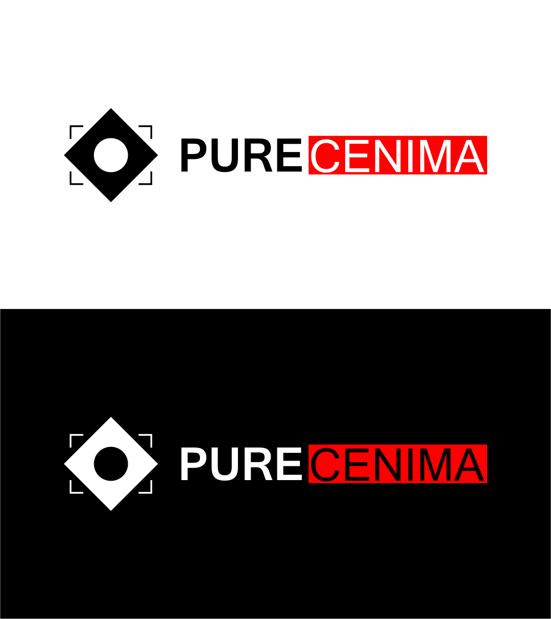 Logo Design by Agus Martoyo - Entry No. 102 in the Logo Design Contest Imaginative Logo Design for Pure Cinema.