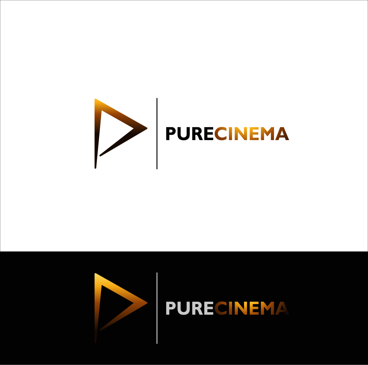 Logo Design by zoiDesign - Entry No. 103 in the Logo Design Contest Imaginative Logo Design for Pure Cinema.
