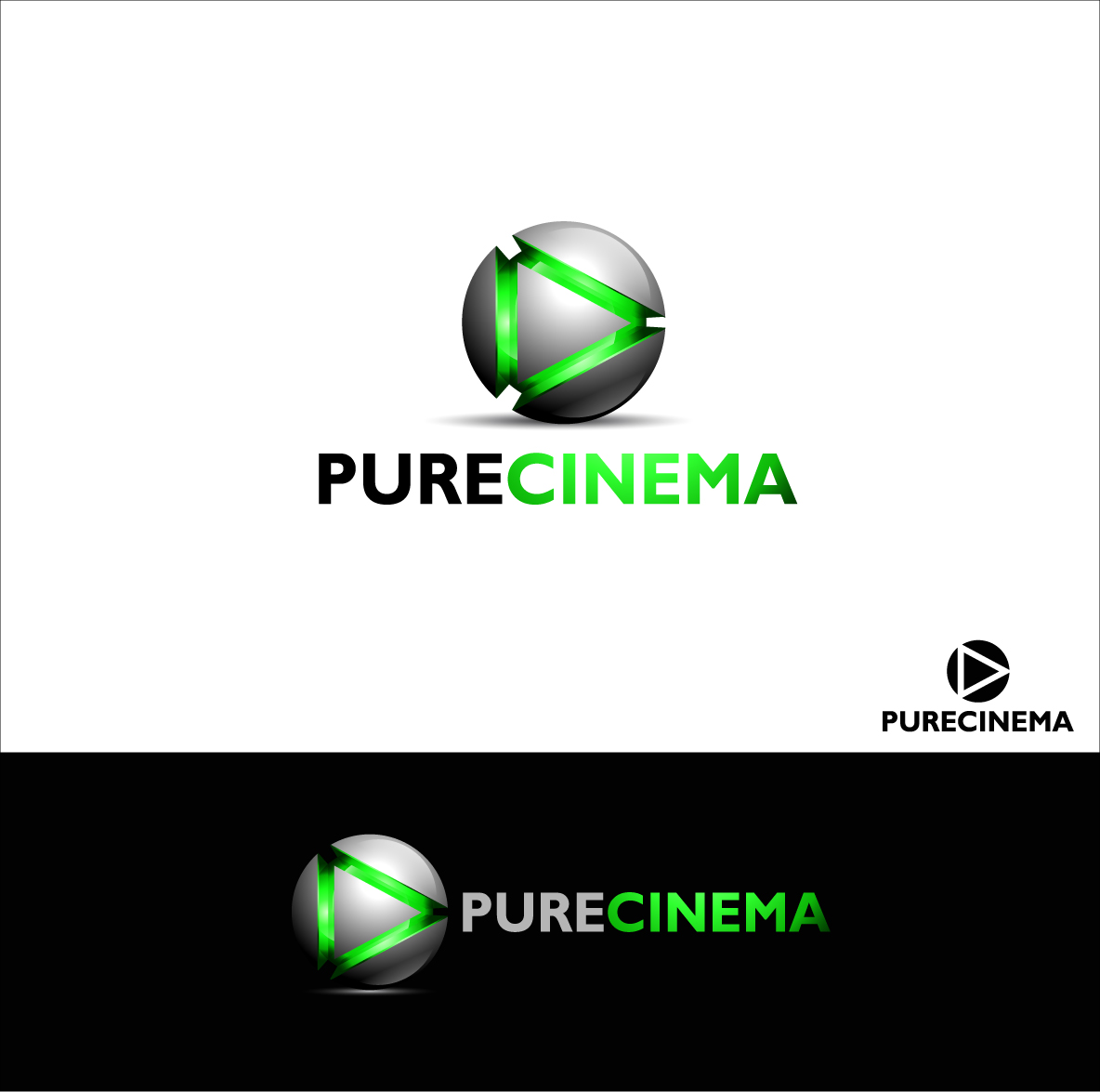 Logo Design by zoiDesign - Entry No. 106 in the Logo Design Contest Imaginative Logo Design for Pure Cinema.