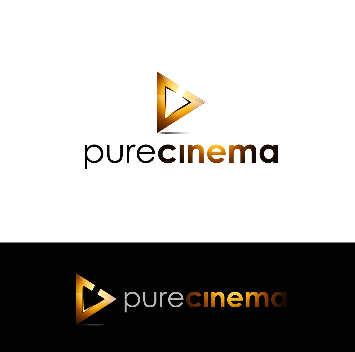 Logo Design by zoiDesign - Entry No. 110 in the Logo Design Contest Imaginative Logo Design for Pure Cinema.
