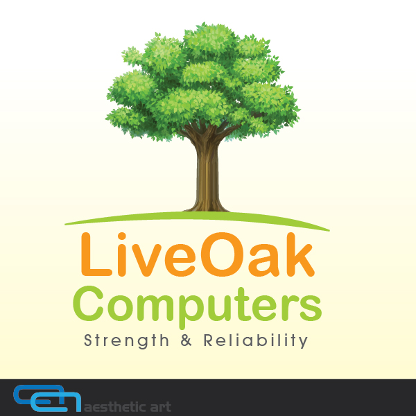 Logo Design by aesthetic-art - Entry No. 39 in the Logo Design Contest Live Oak Computers.