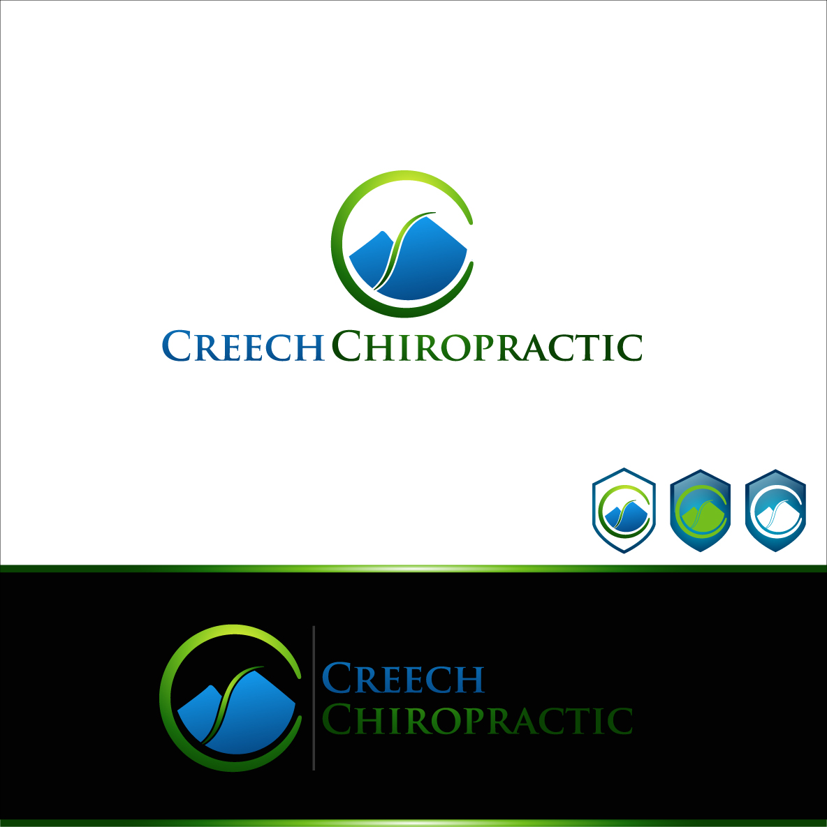 Logo Design by zoiDesign - Entry No. 95 in the Logo Design Contest Imaginative Logo Design for Creech Chiropractic.