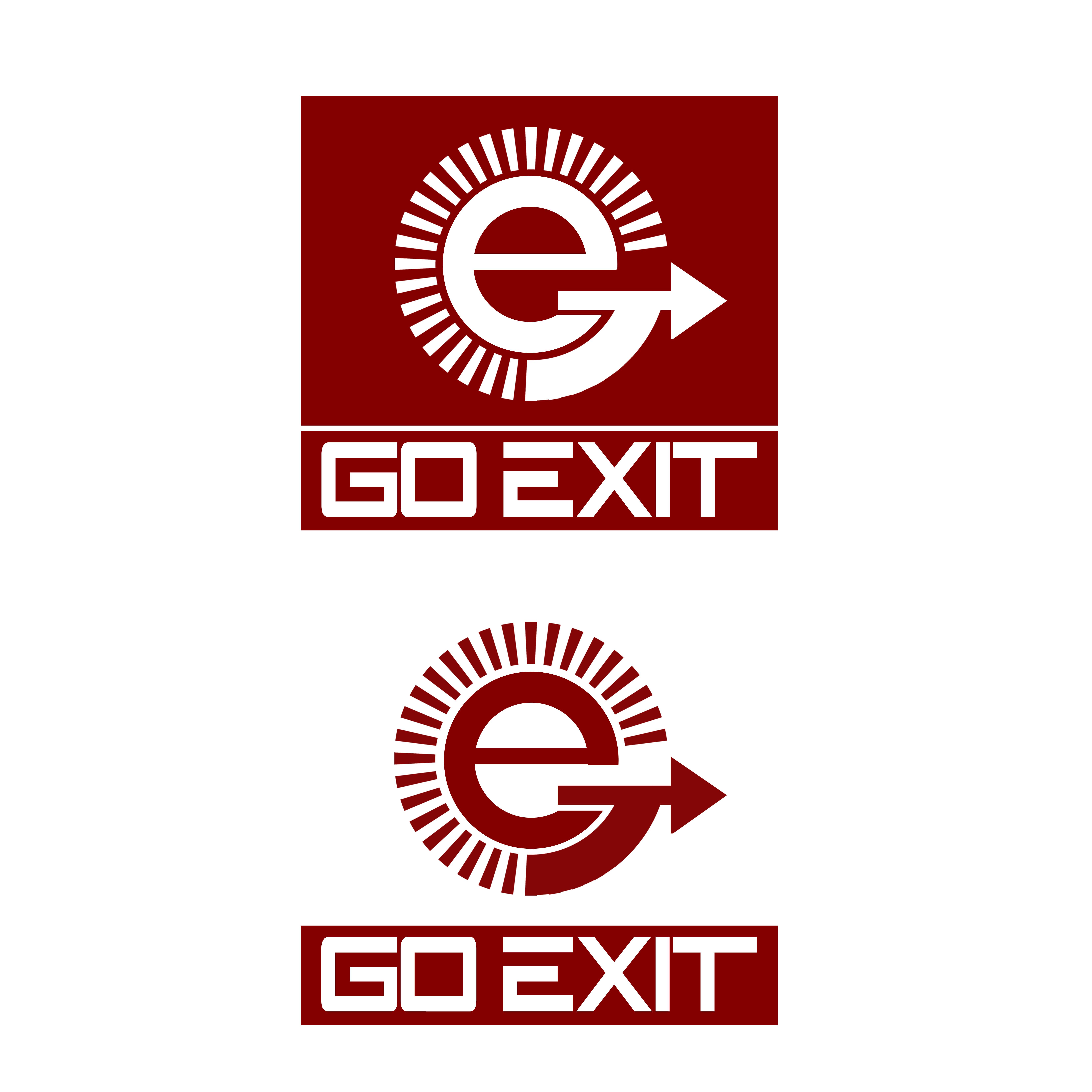 Logo Design by Allan Esclamado - Entry No. 138 in the Logo Design Contest GoExit Logo Design.