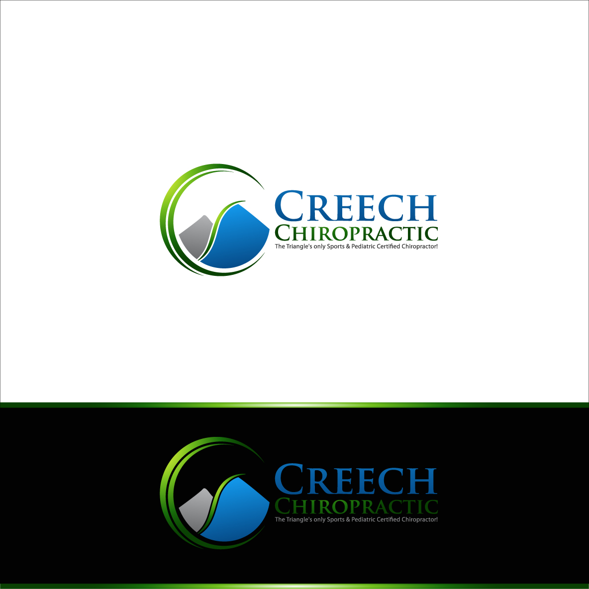 Logo Design by zoiDesign - Entry No. 98 in the Logo Design Contest Imaginative Logo Design for Creech Chiropractic.