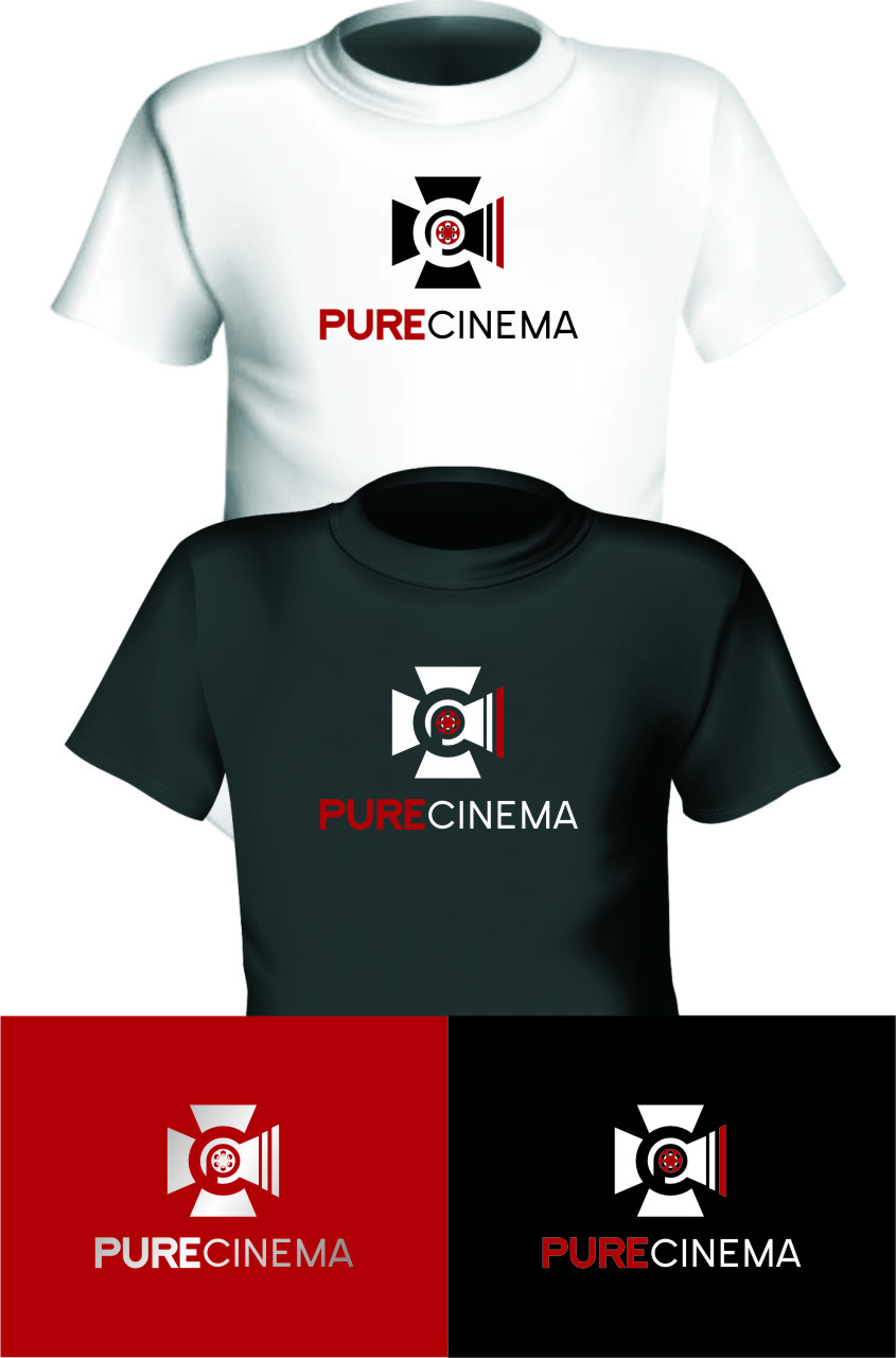 Logo Design by RasYa Muhammad Athaya - Entry No. 119 in the Logo Design Contest Imaginative Logo Design for Pure Cinema.