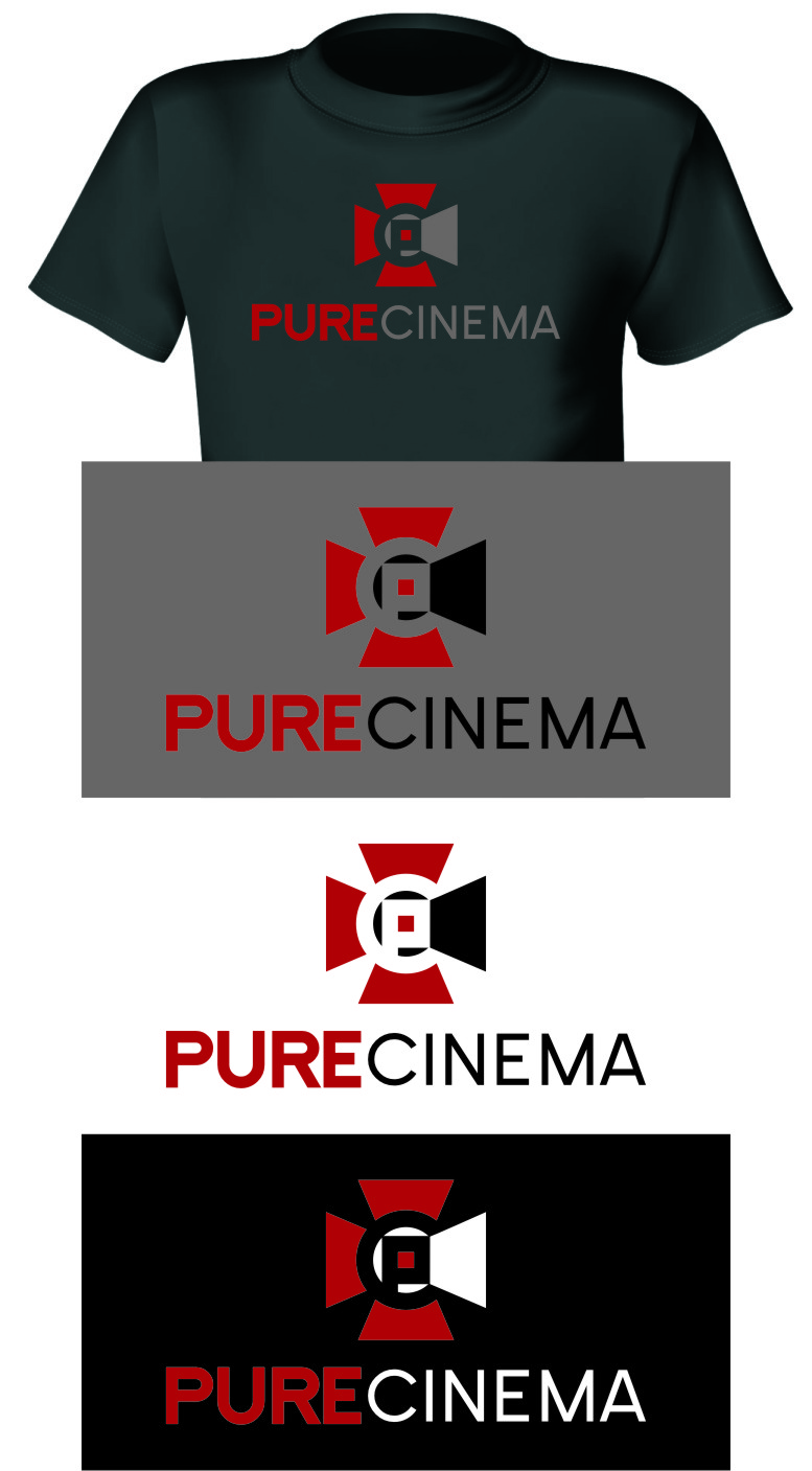 Logo Design by RasYa Muhammad Athaya - Entry No. 120 in the Logo Design Contest Imaginative Logo Design for Pure Cinema.