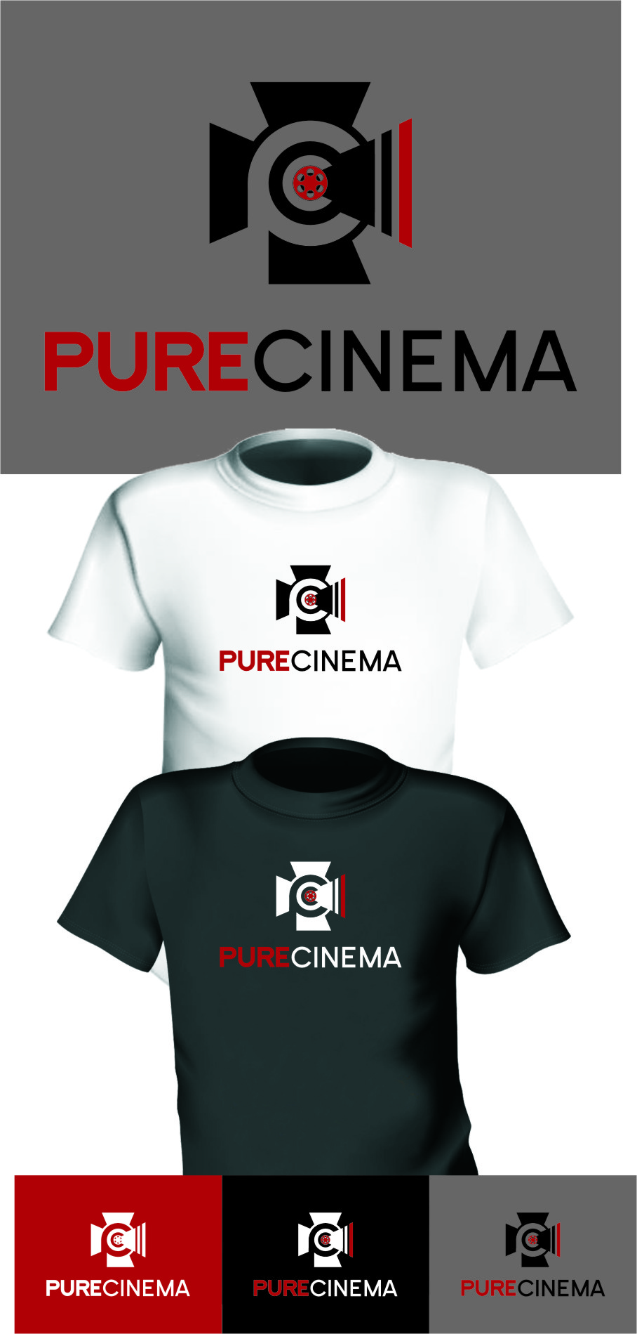 Logo Design by RasYa Muhammad Athaya - Entry No. 123 in the Logo Design Contest Imaginative Logo Design for Pure Cinema.